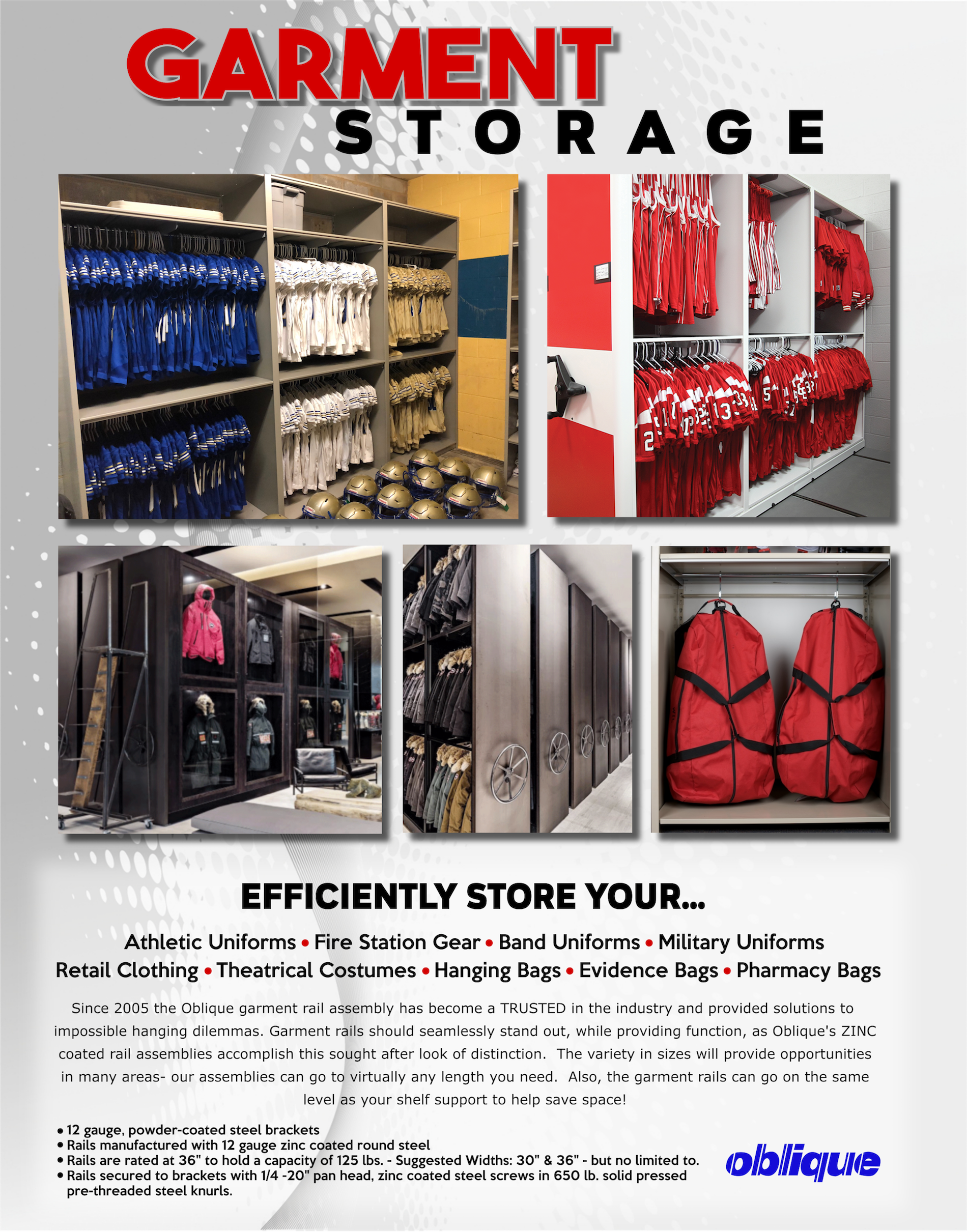 OBLIQUE'S GARMENT STORAGE