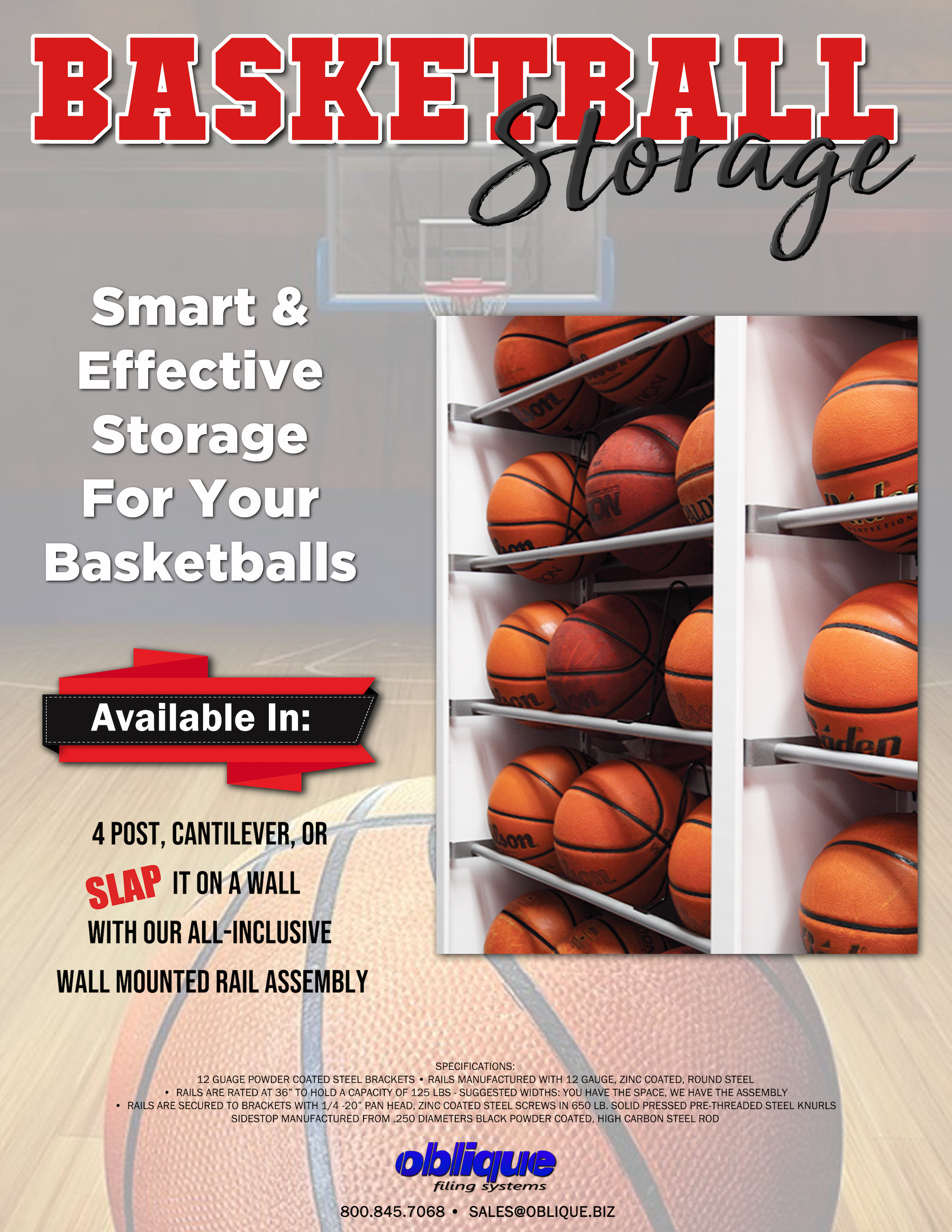 www.Oblique.biz BasketBallStorage